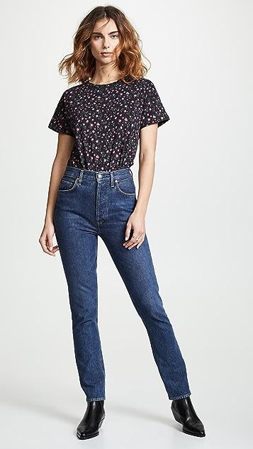 Rag & Bone/JEAN 花卉复古圆领 T 恤
