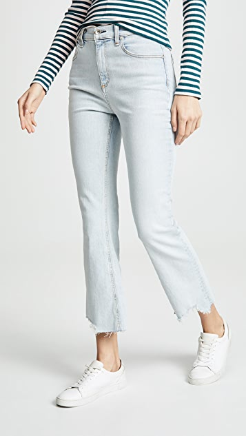 Rag & Bone/JEAN The Hana High Rise Cropped Jeans