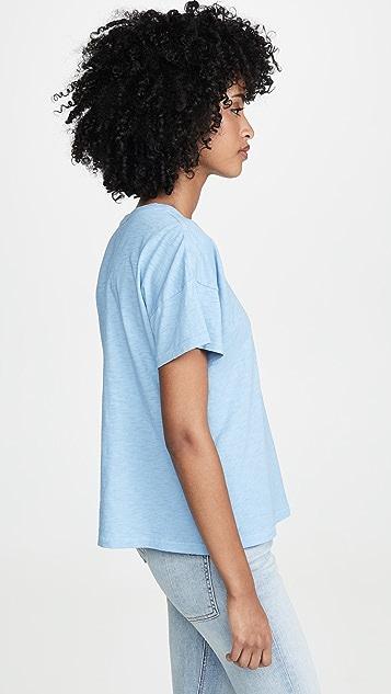Rag & Bone/JEAN Винтажная футболка RBNY с округлым вырезом