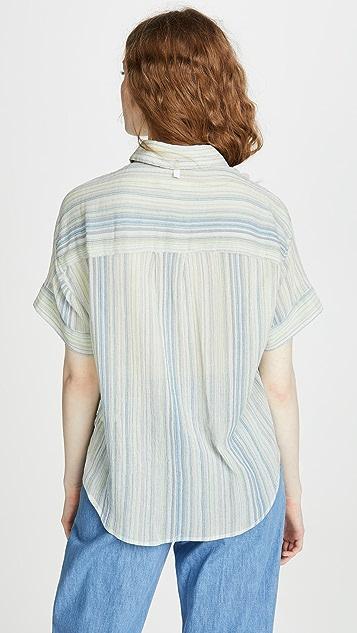 Rag & Bone/JEAN Рубашка Lenny с завязками