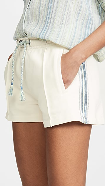 Rag & Bone/JEAN Molly Striped Trim Shorts