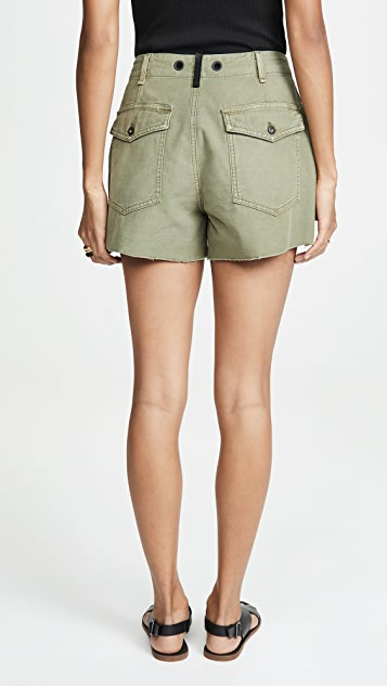 Rag & Bone/JEAN Super High Rise Army Shorts