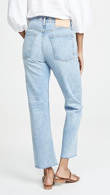 Rag & Bone/JEAN Прямые джинсы до щиколотки Maya с высокой посадкой