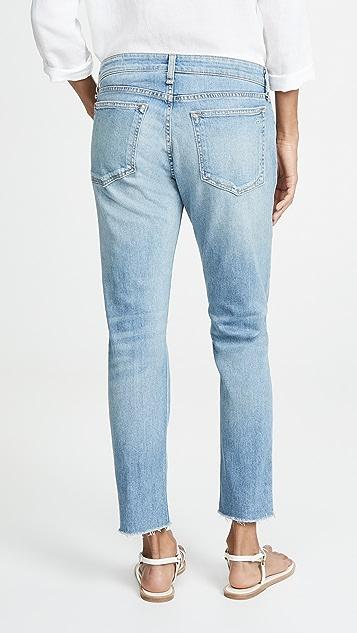 Rag & Bone/JEAN Узкие джинсы «бойфренды» до щиколоток Dre с низкой посадкой