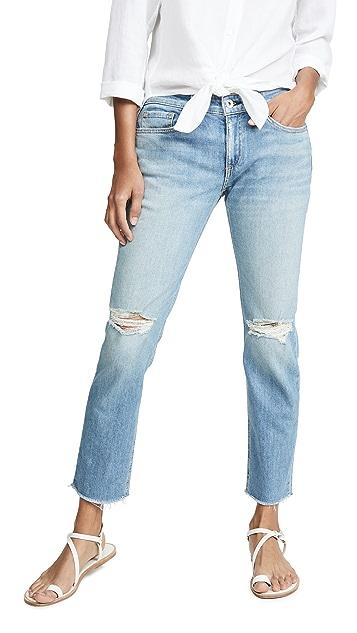 Rag & Bone/JEAN Dre Low Rise Ankle Slim Boyfriend Jeans