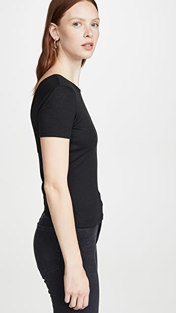 Rag & Bone/JEAN Wrap Short Sleeve Top