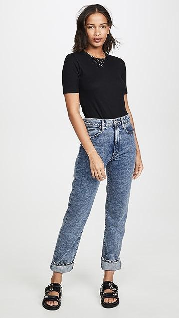 Rag & Bone/JEAN Облегающая футболка в рубчик Kari