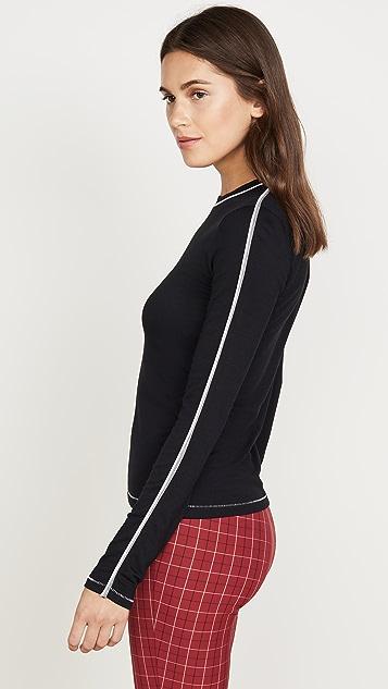 Rag & Bone/JEAN 运动风修身长袖上衣