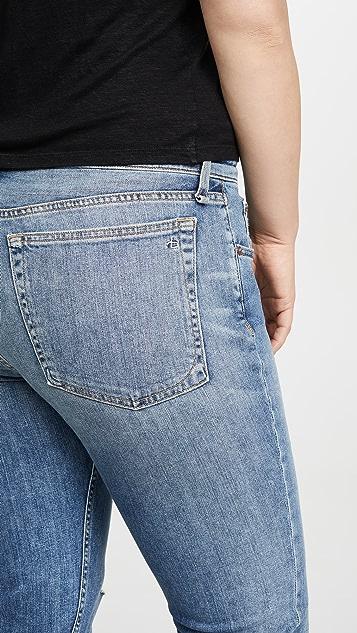 Rag & Bone/JEAN Облегающие джинсы-бойфренды Dre с низкой посадкой