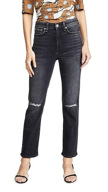 Rag & Bone/JEAN Nina 高腰及踝烟管牛仔裤