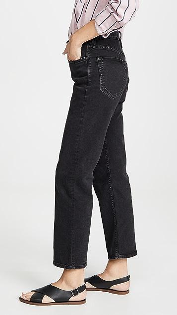 Rag & Bone/JEAN Maya High-Rise Ankle Straight Jeans