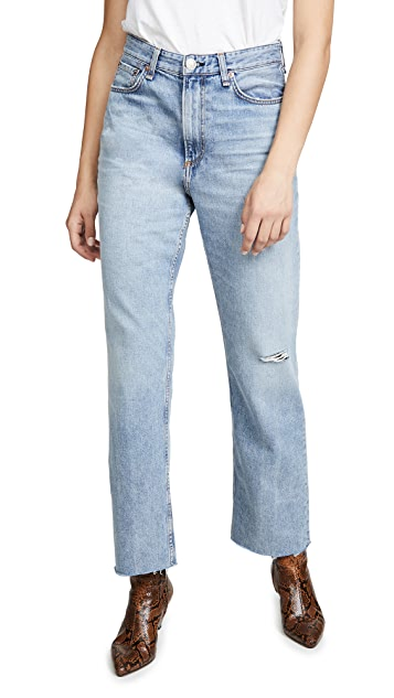 Rag & Bone/JEAN Ruth Super High Rise Straight Jeans