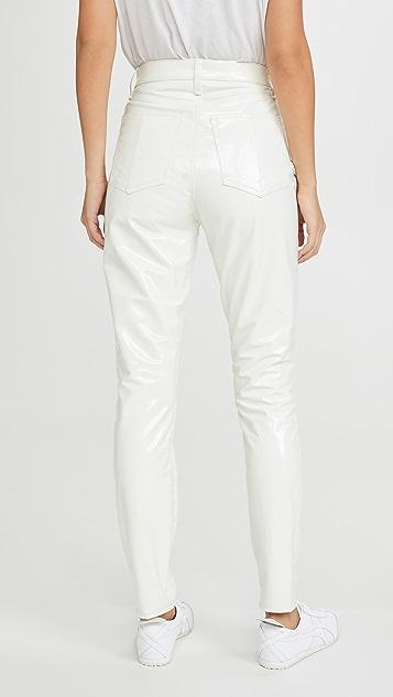 Rag & Bone/JEAN 超高腰紧身及踝乙烯基牛仔裤
