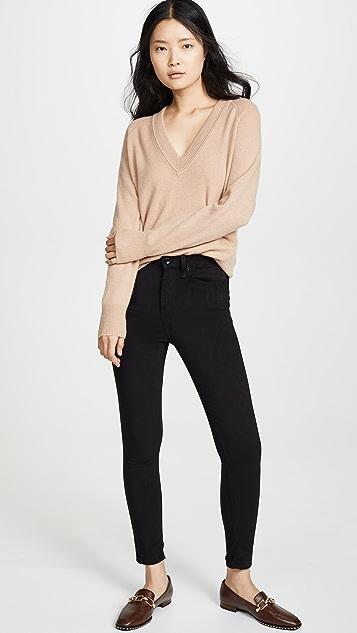 Rag & Bone/JEAN Nina High Rise Ankle Skinny Jeans