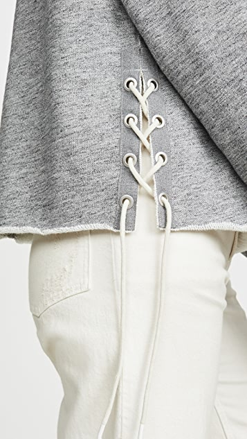 Rag & Bone/JEAN Толстовка Amelia с капюшоном и шнуровкой