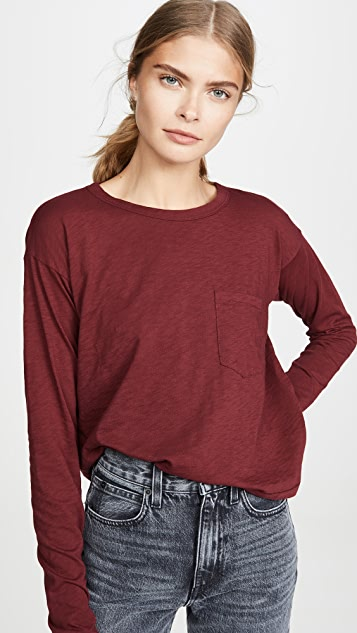 Rag & Bone/JEAN 长袖短款 T 恤