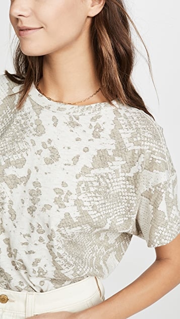 Rag & Bone/JEAN 蛇纹印花复古圆领 T 恤
