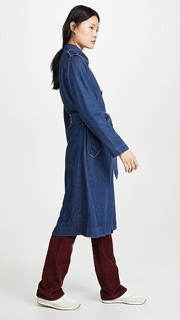 Rag & Bone/JEAN Tailored Denim Trench Coat