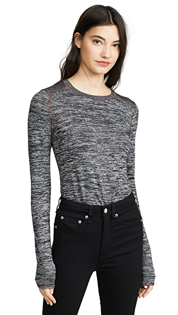 Rag & Bone/JEAN Облегающая футболка с длинными рукавами Avryl