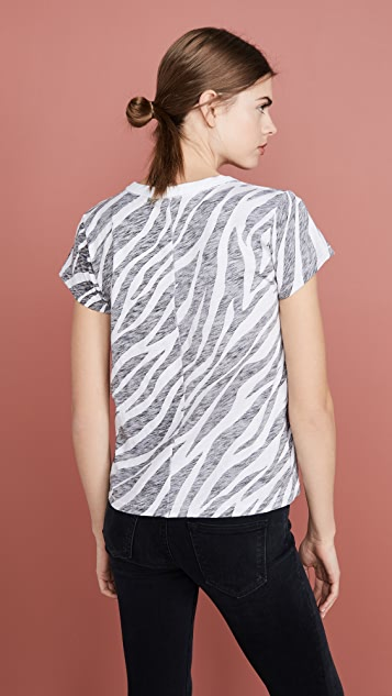 Rag & Bone/JEAN All Over 斑马纹 T 恤