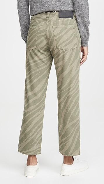 Rag & Bone/JEAN Прямые джинсы до щиколотки с высокой посадкой Maya