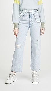 Rag & Bone/JEAN Ruth Super High-Rise Straight Jeans