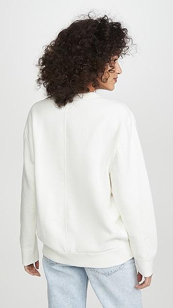 Rag & Bone/JEAN 赛车风格罗纹运动衫