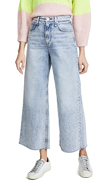 Rag & Bone/JEAN Ruth Super High-Rise Ankle Wide Leg Jeans