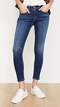 Cate Mid Rise Skinny Ankle Jeans