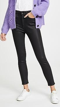 Nina Coated High Rise Ankle Skinny Jeans