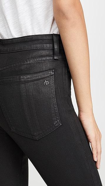 Rag & Bone/JEAN Nina Coated High Rise Ankle Skinny Jeans