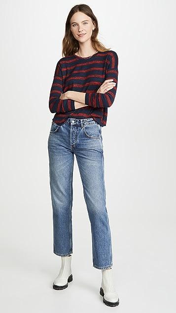 Rag & Bone/JEAN 针织条纹长袖上衣