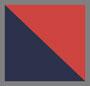 темно-синий/красная полоска