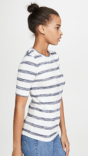 Rag & Bone/JEAN 针织条纹修身 T 恤