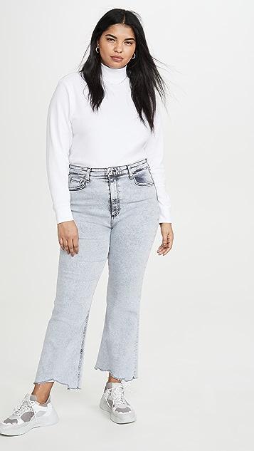 Rag & Bone/JEAN Расклешенные джинсы до щиколотки Nina с высокой посадкой