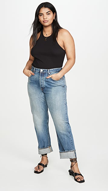 Rag & Bone/JEAN Maya High Rise Ankle Straight Jeans