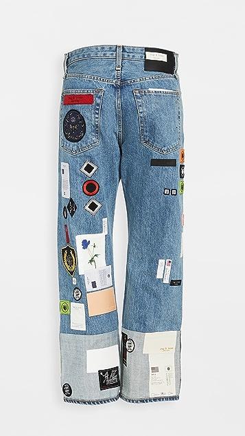 Rag & Bone/JEAN Patchwork Denim Jeans