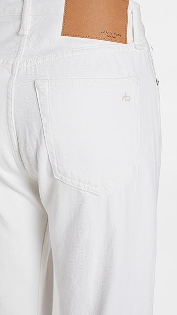 Rag & Bone/JEAN Maya 高腰直脚九分牛仔裤