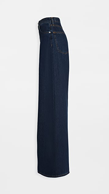 Rag & Bone/JEAN Ruth Super High-Rise Ultra Wide Leg Jeans