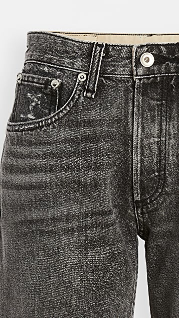 Rag & Bone/JEAN Rosa Mid Rise Walking Shorts