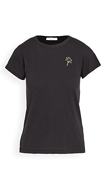 Rag & Bone/JEAN 刺绣棕榈树 T 恤