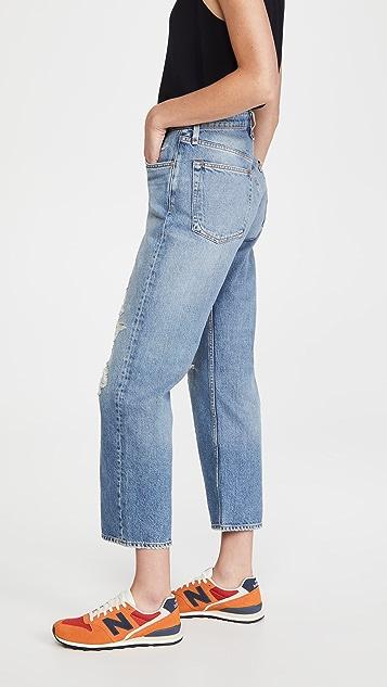 Rag & Bone/JEAN Maya High Rise Ankle Straight Jeans