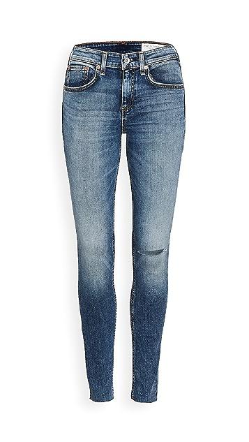 Rag & Bone Cate Mid Rise Skinny Jeans