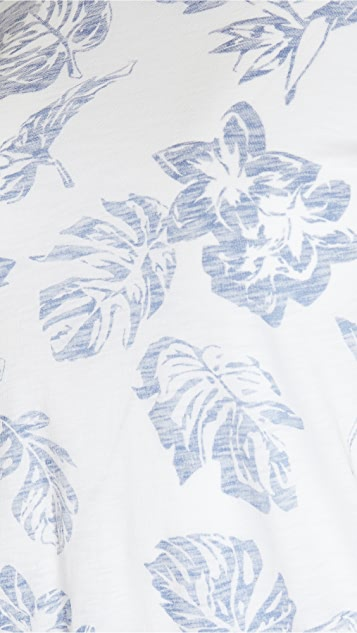 Rag & Bone/JEAN 整版夏威夷风格 T 恤