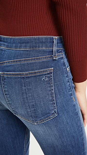 Rag & Bone/JEAN Cate 中腰及踝紧身牛仔裤