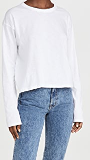 Rag & Bone/JEAN 竹节纹短款长袖上衣