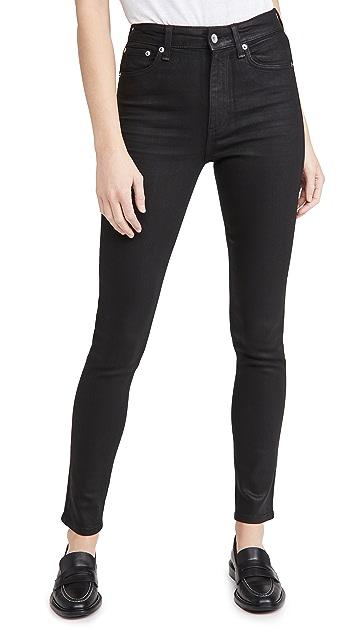 Rag & Bone/JEAN Nina High Rise Coated Skinny Jeans