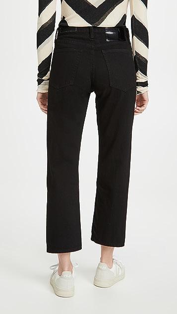Rag & Bone/JEAN Maya High Rise Ankle Wide Leg Jeans