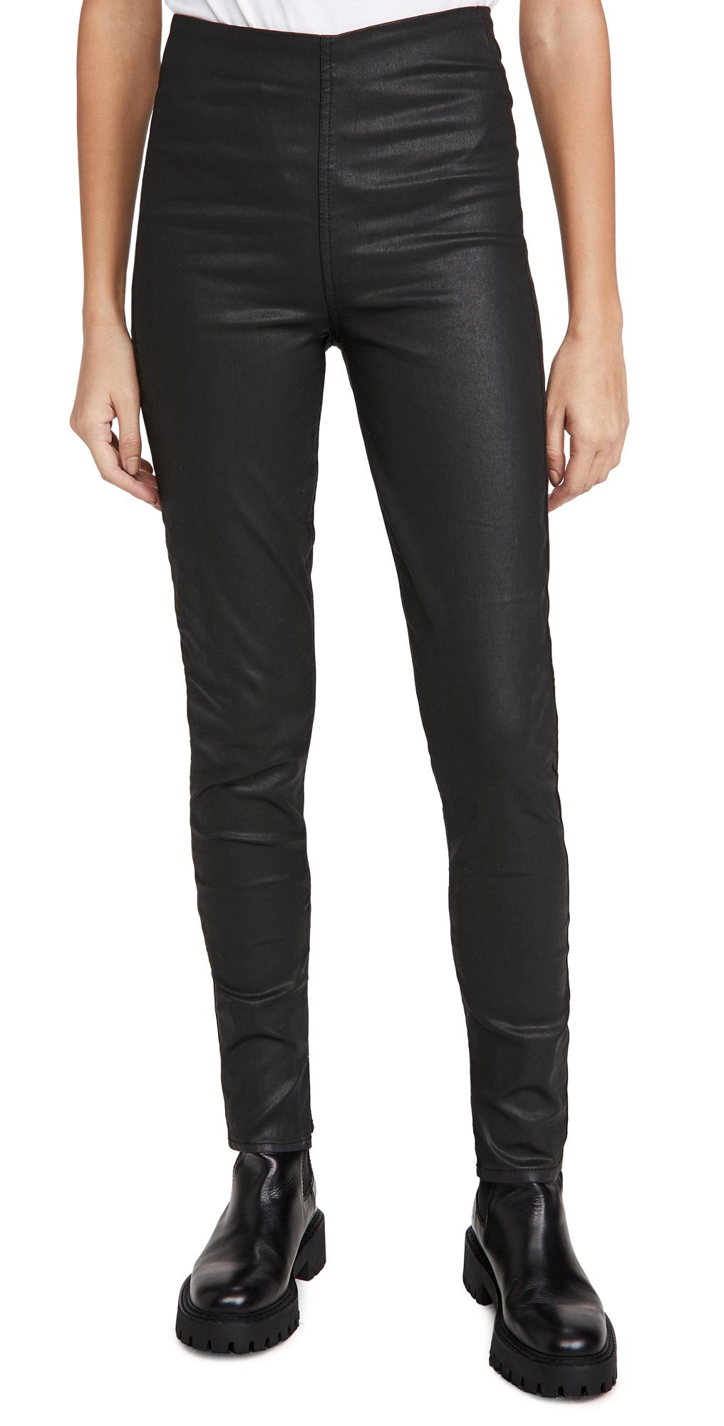Rag & Bone/JEAN Nina High Rise Coated Pull On Jeans