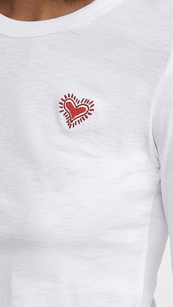 Rag & Bone/JEAN 刺绣心形长袖